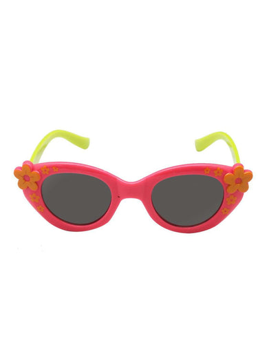 Stol'n Kids Pink and Green Flower Cat Eye Sunglasses - SWHF