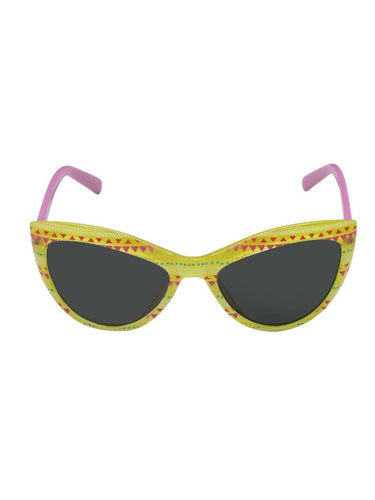 Stol'n Kids Yellow and Purple Printed Cat Eye Sunglasses - SWHF