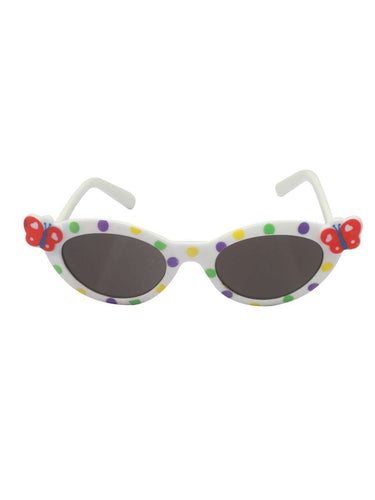 Stol'n Kids White Butterfly Cat Eye Sunglasses - SWHF