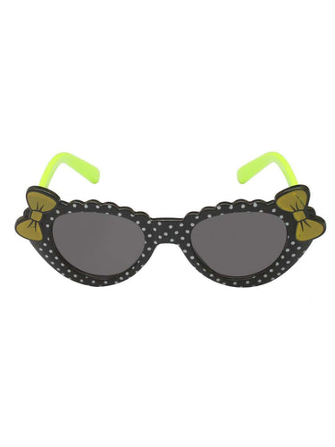 Stol'n Kids Black and Green Bow Cat Eye Sunglasses - SWHF