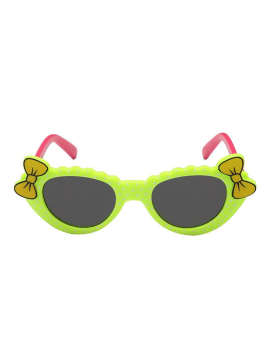 Stol'n Kids Green and Pink Bow Cate Eye Sunglasses - SWHF
