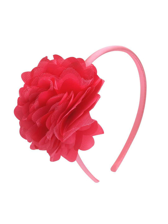 Stol'n Pink Flower Net Hairband: Pink - SWHF