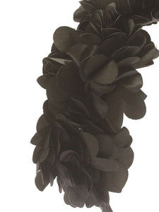 Stol'n Black Three Flower Hairband: Black - SWHF