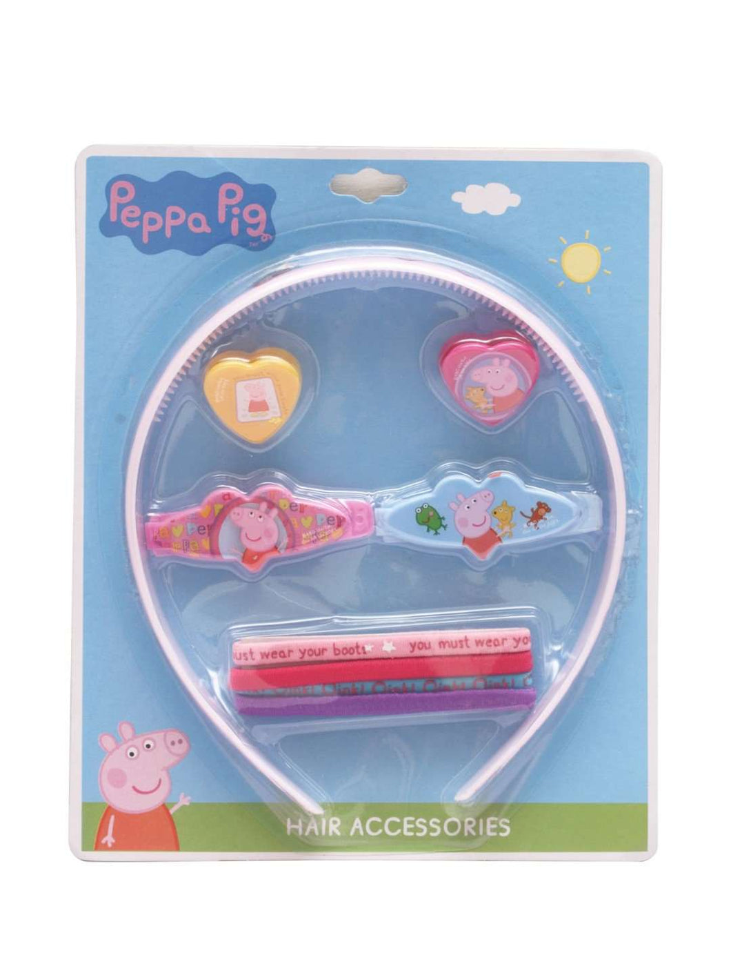 Stol'n Original Licensed Peppa Pig Set of Hairband,Rubberband and Hair clip :Multi - SWHF
