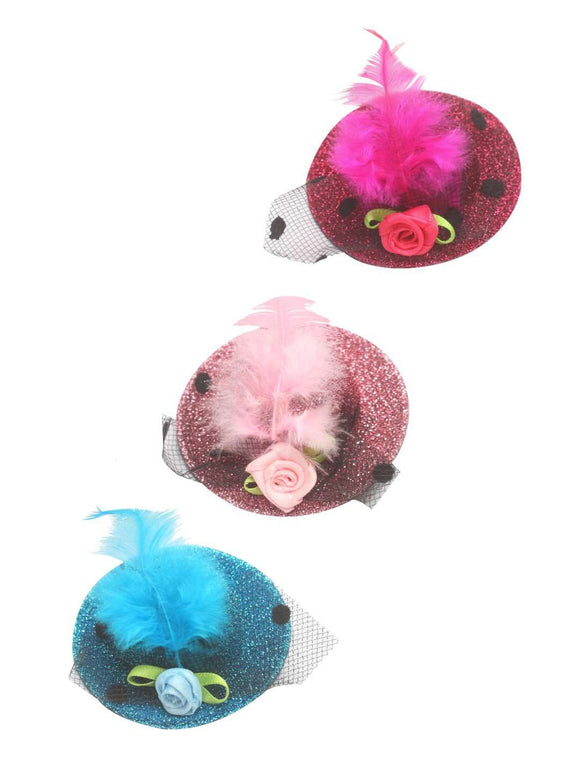 Stol'n Set of Light Pink, Dark Pink and Blue Glitter Hat Clip :Light Pink, Dark Pink, Blue - SWHF