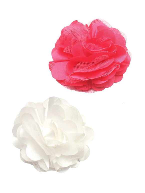 Stol'n Set of Pink and White Flower Clip :Pink and White - SWHF