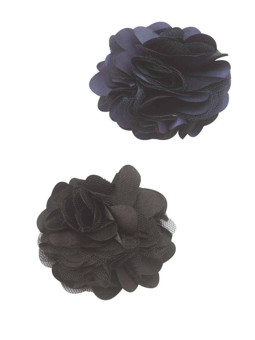 Stol'n Set of Navy Blue and Black Flower Clip :Navy Blue and Black - SWHF