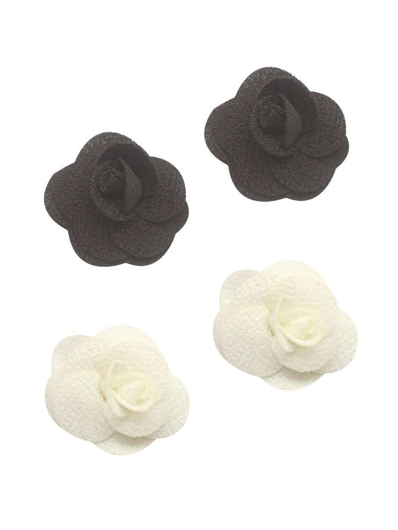 Stol'n Set of Black and White Flower Clip :Black and White - SWHF