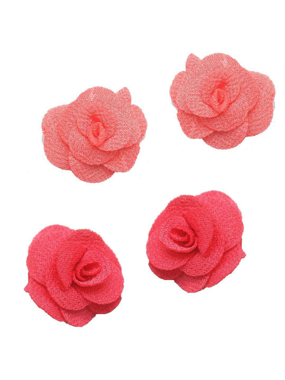 Stol'n Set of Pink and Peach Flower Clip :Pink and Peach