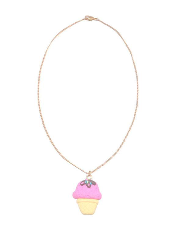 Stol'n Kids Gold Chain Necklace with Ice Cream Pendant :Multi - SWHF