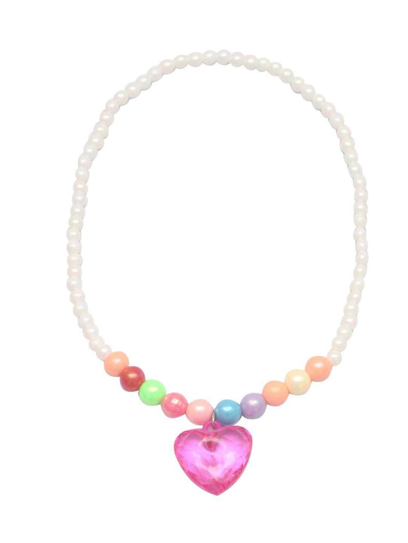 Stol'n Kids Pearl Necklace and Bracelet set with Heart Pendant :Multi - SWHF