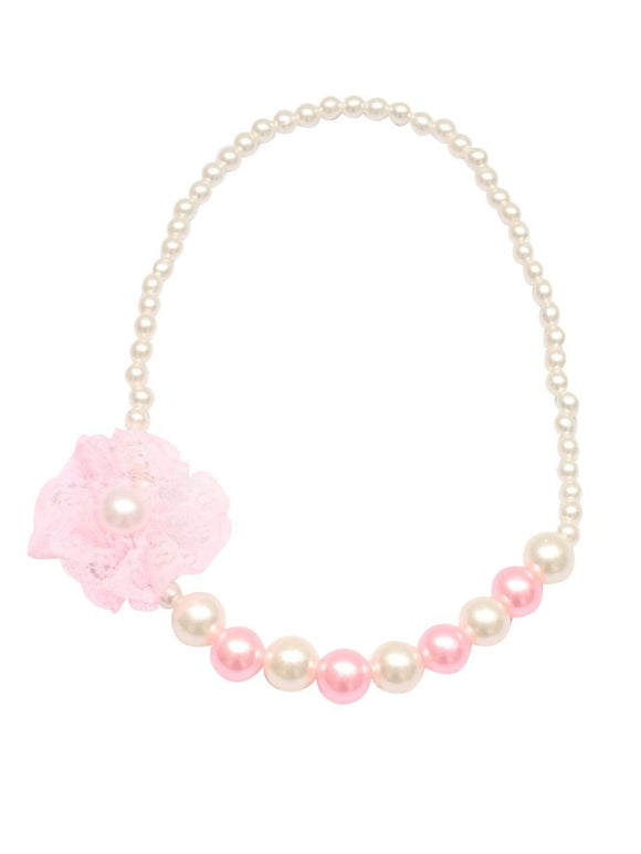 Stol'n Kids Pearl Flower Necklace and Bracelet set :Multi - SWHF