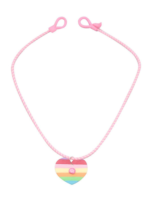 Stol'n Kids Multi Heart Necklace and Earrings set :Multi - SWHF