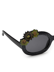Stol'n Premium Attractive Fashionable UV-Protected Oval Shape Sunglasses  - Black