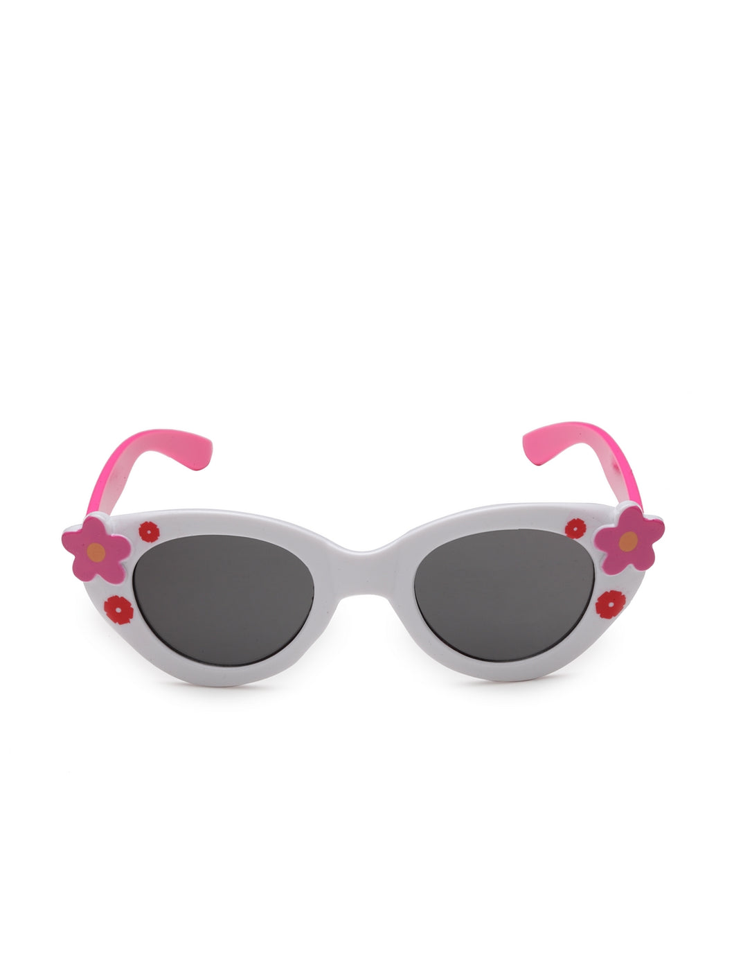 Stol'n Premium Attractive Fashionable UV-Protected Oval shape Sunglasses - Pink and White