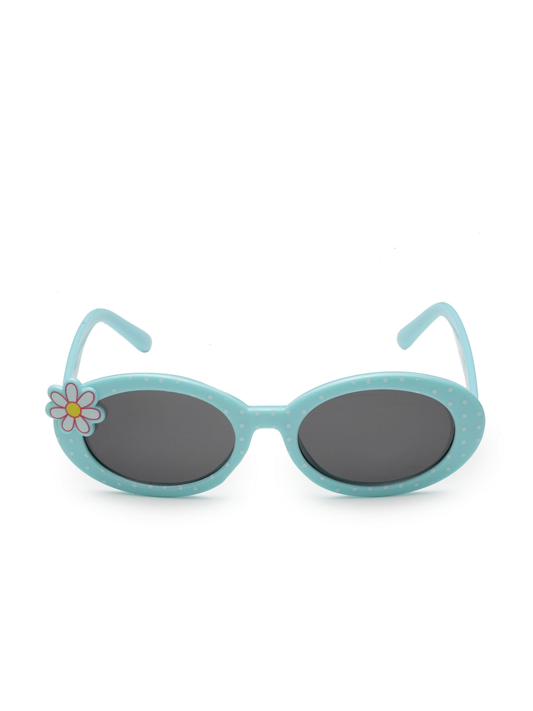 Stol'n Kids Yellow and Blue Bow Applique Rectangular Sunglasses Black and Green