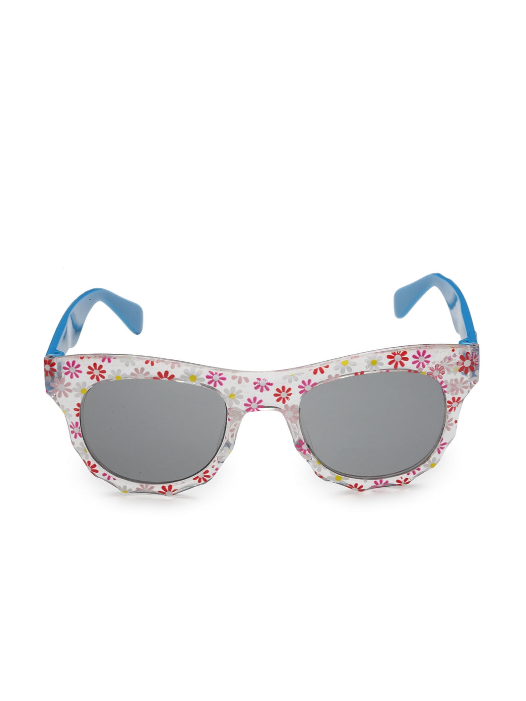 Stol'n Kids Yellow and Blue Bow Applique Rectangular Sunglasses Green and Pink