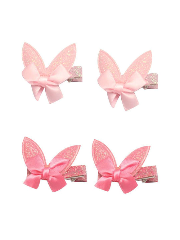 Stol'n Set of Light Pink and Dark Pink Shiny Bunny Clip :Light Pink and Dark Pink - SWHF
