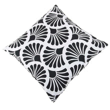 Load image into Gallery viewer, SWHF Cotton Cushion Cover Rays Black, Set of 2 - SWHF