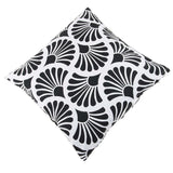 SWHF Cotton Cushion Cover Rays Black, Set of 5