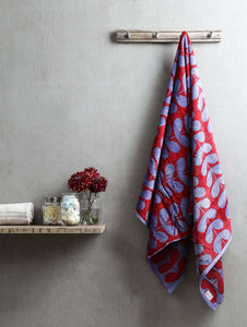 Turkish Bath Harmony Bath Towel:Red - SWHF