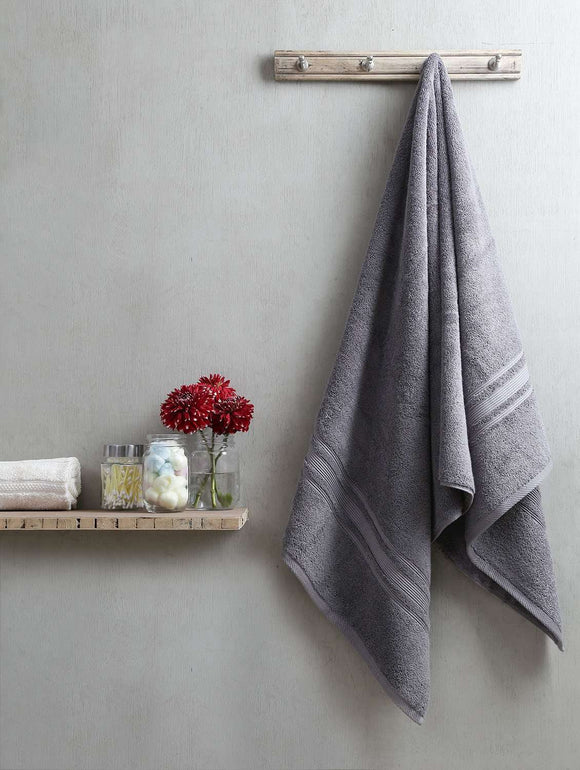 Turkish Bath Costco Bath Towel:Grey - SWHF