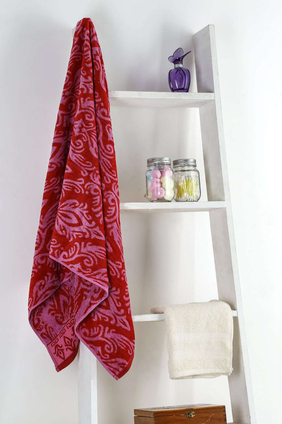 Turkish Bath Royal Aura Bath Towel : Red - SWHF