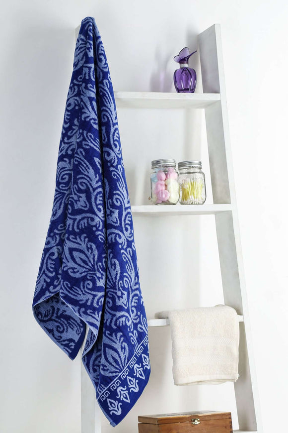Turkish Bath Royal Aura Bath Towel: Blue - SWHF