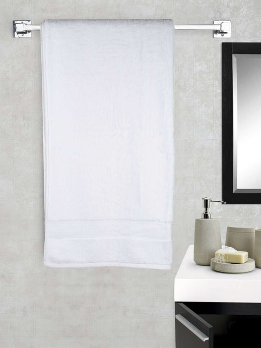 Turkish Bath Cotton 700 GSM Royal Luxury Bath Towel : White - SWHF