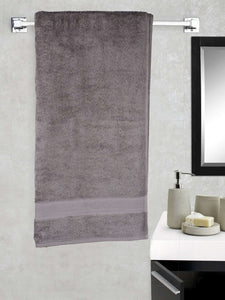 Turkish Bath Cotton 700 GSM Royal Luxury Bath Towel : Grey - SWHF