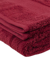 Load image into Gallery viewer, Turkish Bath Cotton 700 GSM Royal Luxury Bath Towel : Maroon - SWHF