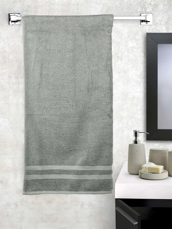 Turkish Bath Premium Cotton 500 GSM Mira Balla Bath Towel : Grey - SWHF