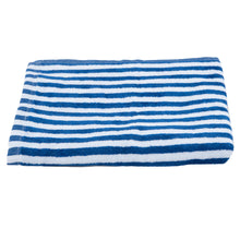 Load image into Gallery viewer, Turkish Bath Premium Cotton Cabana Shering Cabana Shering Stripe Bath and Pool Towel : Blue - SWHF