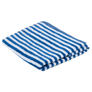 Turkish Bath Premium Cotton Cabana Shering Cabana Shering Stripe Bath and Pool Towel : Blue - SWHF