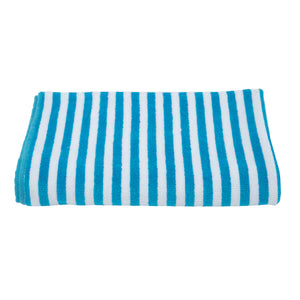 Turkish Bath Premium Cotton Cabana Shering Stripe Bath and Pool Towel : Sky Blue - SWHF