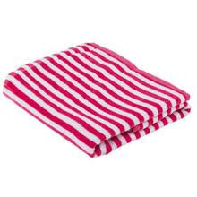 Load image into Gallery viewer, Turkish Bath Premium Cotton Cabana Shering Stripe Bath and Pool Towel : Pink - SWHF