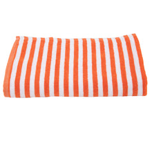 Load image into Gallery viewer, Turkish Bath Premium Cotton Cabana Shering Stripe Bath and Pool Towel : Orange - SWHF