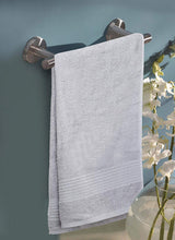 Load image into Gallery viewer, Turkish Bath Premium Cotton Belk Solid Bath Towel : Light Grey - SWHF