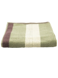 Turkish Bath Cotton Stripe 500 GSM Solid Bath Towel (Green) - SWHF