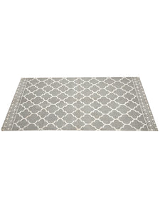 Chic Home Cotton Printed Extra Large Floor Rug (Grey) - SWHF