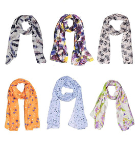 SWHF Premium Cotton and Silk Scarf & Scarves Set : Assorted Collection - SWHF