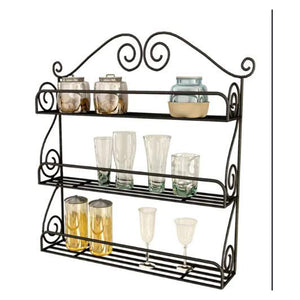 SWHF Kitchen Wall Shelf Mild Steel (Black)