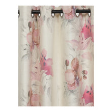 Load image into Gallery viewer, SWHF Floral Pink & Off-White Single Door Curtain