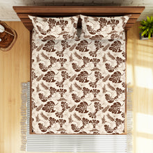 Load image into Gallery viewer, <h4>Spaces 104 TC Cotton Double Bed Sheet with 2 Pillow Covers (Brown)</h4>