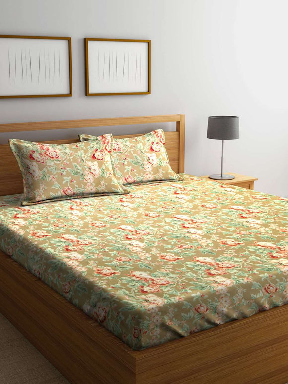 Chic Home British Country 100 % Cotton King Size Bedsheet With Two Pillow Cover : Floral - SWHF
