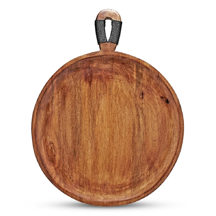 SWHF Pure Mango Wooden Cheese,Pizza Serving Plate, 20 x 16 Inches - SWHF