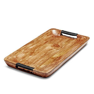 SWHF Pure Wood Rectangle Serving Platter (Brown), 18X 11 Inches - SWHF