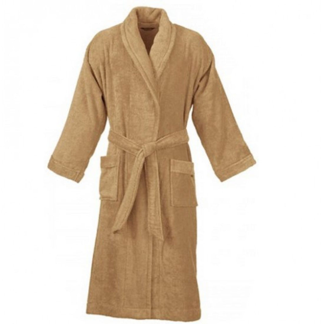 Turkish Bath Premium Cotton Unisex Kids Bathrobe -  Beige - SWHF