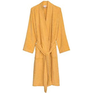 Turkish Bath Premium Cotton Unisex Kids Bathrobe -  Musturd - SWHF