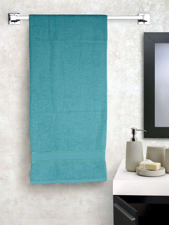 EuroSpa Premium Cotton 550 GSM Elegance bath towel : Green - SWHF